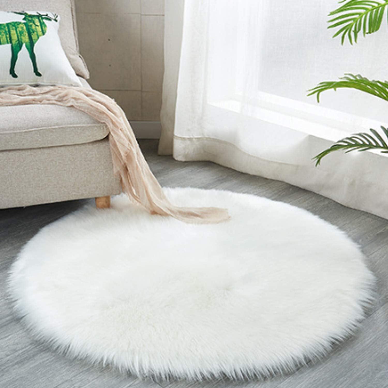 Ranking TOP21 Round Fluffy Rug Faux Fur Round Rug Silky Fuzzy ...