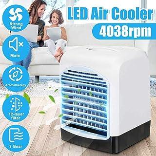 Alarmclocker8B Mini refrigerador de Aire 3 en 1 Ventilador de enfriamiento USB portátil Aire Acondicionado de purificación de aromaterapia 3 velocidades 6 Horas Tanque de Agua Regular de 300 ml