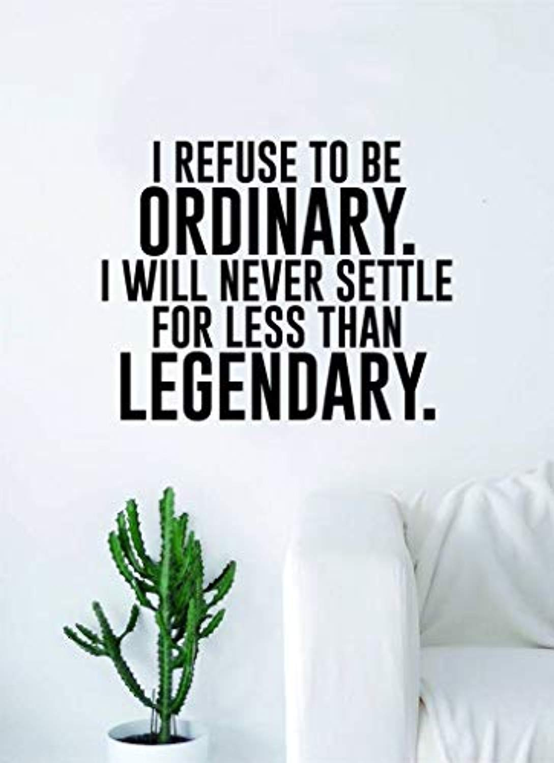 Amazon Com I Refuse To Be Ordinary Decoration Art Bedroom Living Room Quote Gym Legendary Inspirational Wall Decals Decor Vinyl Sticker Sk10767 W27 H22 Baby