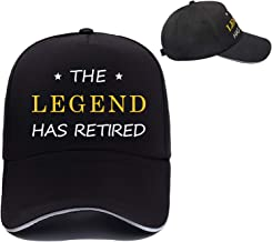 Colormoon Retired Baseball Hat, Retirement Party Supplies, Retirement Gifts for Dads Boss-The Legend Has Retired