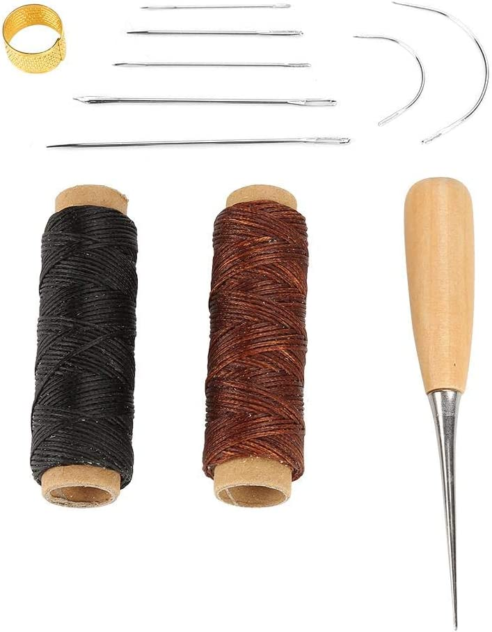 Sewing Kit Waxed Cord Thread Hand f Awl Ring Needle Large-scale sale with Max 78% OFF Thimble