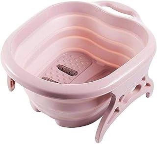 Lavabo pliable Bassin pliable - Godet Pied portable pliable Moussant massage seau de bain en plastique bassin de pied Chau...