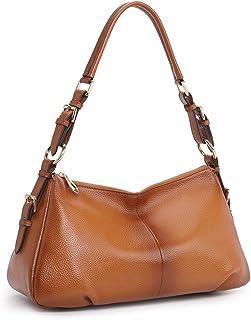 Kattee Soft Leather Hobo handbags for Women, Genuine Top Handle Vintage Shoulder purses