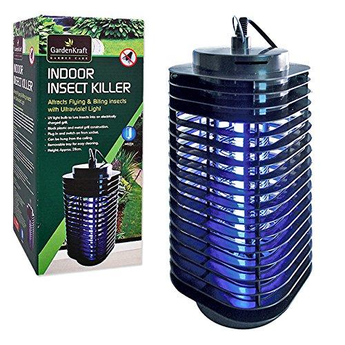 GardenKraft 20480 - Insetticida elettrico UV per interni, colore: Nero