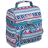 J World Corey Kids Lunch Bag. Insulated Lunch-Box for Women, Mint Tribal