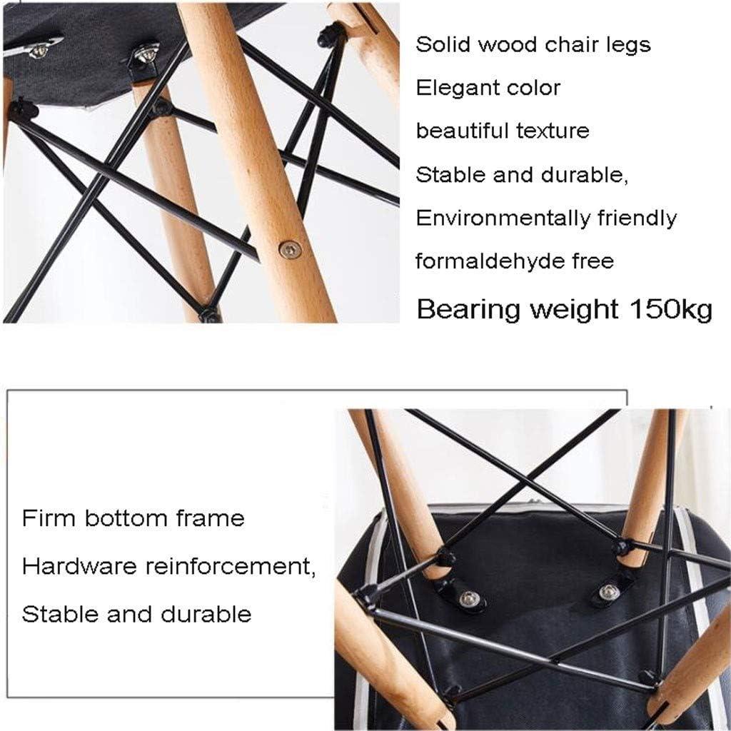 Faux cuir Chaises salle à manger Rétro Solide naturel Jambes Bois Et Armature en métal combinaison Solide Confortable Papillon retour Chaise cuisine (Color : Black) Black