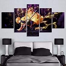 Modulaire foto Hd Gedrukt Poster 5 Stks Demon Slayer Kimetsu Geen Yaiba Anime Canvas Schilderijen Muur Art voor Woonkamer ...