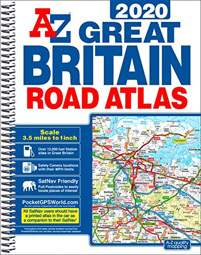 GB Road Atlas 2020 A4 SPIRAL