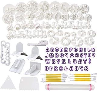 Soleebee 114 Pcs Outils de Modelage Fondant Outils De Décoration De Gâteau De Cuisson Décoration De Sucre Artisanal Outils...