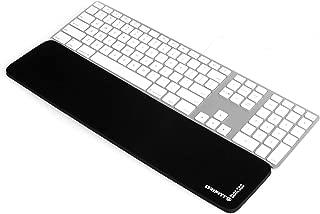 Grifiti Slim Wrist Pad 17 4 X 17 Wrist Rest for Apple® Mac Mini Wireless Keyboard and Magic Trackpad or Wired USB Keyboard, Anker, Macally, Logitech, Gmyle and Thin Standard Keyboards Black Nylon Surface