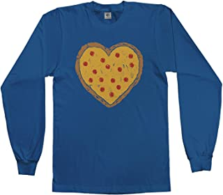 Kids Pizza Pie Heart Youth Long Sleeve T-Shirt