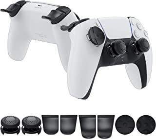 YUANHOT Analog Stick Thumb Grips Set with Trigger Extenders Accessories Kit for PS5 (Playstation 5) DualSense Wireless Con...
