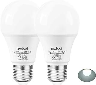 Dusk to Dawn A19 LED Light Bulb, Built in Light Sensor, Plug and Play