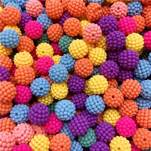 Xuping shop 30 cuentas de bayberry de 12 mm de colores de perlas de imitación redondas sueltas para cuentas europeas para hacer joyas y accesorios (color: 08)