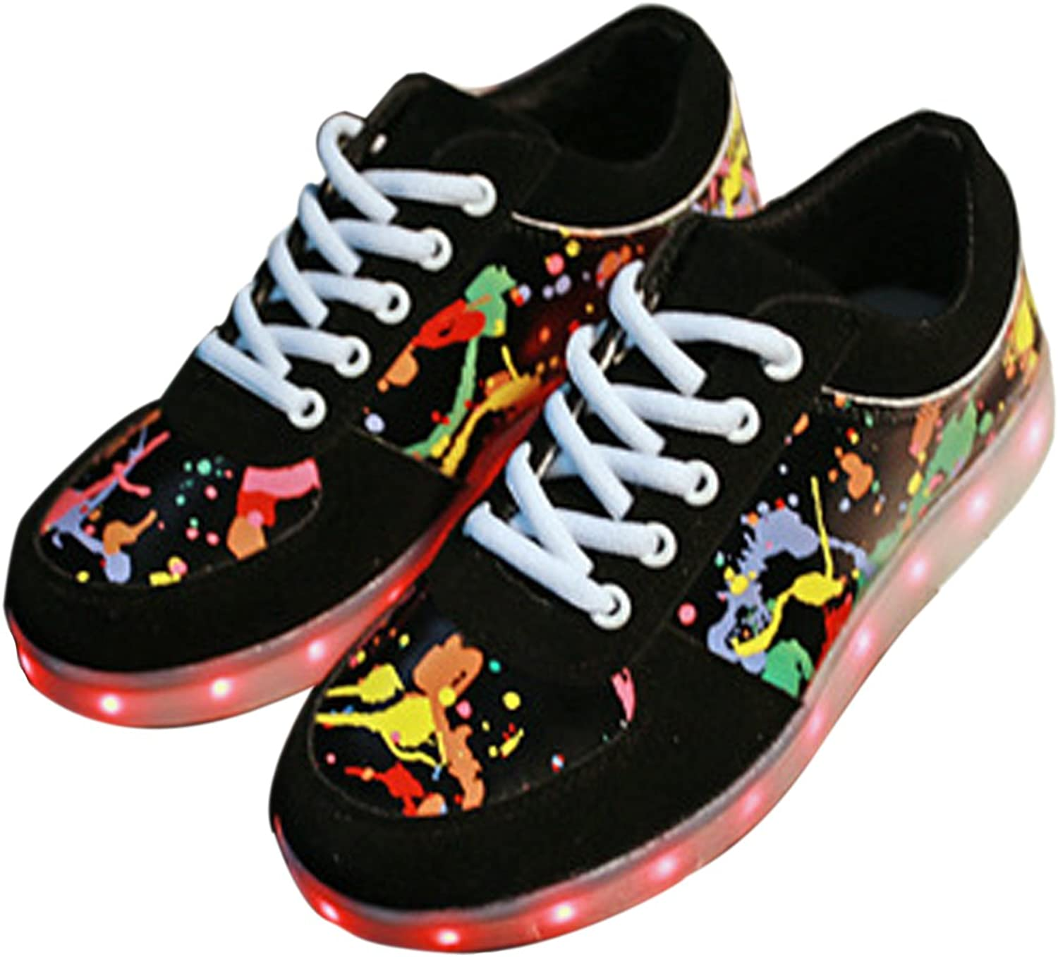Univegrow Men and Women's colorful Light LED shoes Sports and Casual Graffiti