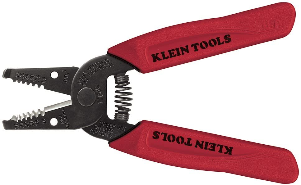 depot Klein Tools 11046 Wire Stripper 16-26 Red Stranded Cutter half AWG