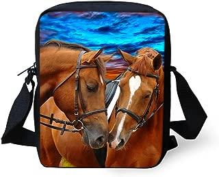 Crazy Horse Print Mini Children Gilrs Cross Body Bags Shoulder Bag