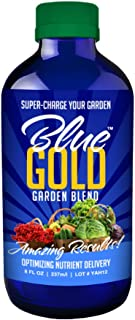 Blue Gold Garden Blend Organic Herb & Mineral Wetting Agent Plant Food, Concentrate 8 fl. oz. Bottle