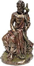 Asclepius Greek God Of Medicine Holding Asklepios Statue Figurine Cold Cast Bronze