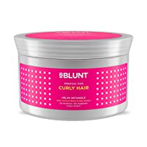 BBLUNT Curly Hair Prepoo (Pre-shampoo) For Dry/FrizzyHair – 150g, No Sulphate, No Paraben, with Coconut Water & Aloe Vera Extract