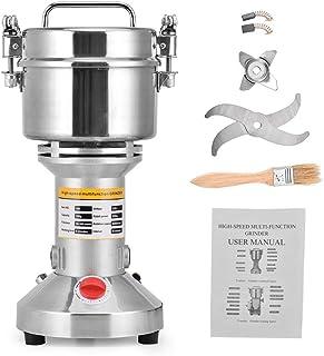 HUKOER Draagbare grinder Grinder 220 V Kruidenkorrel Spice koffiemolen Grinder van poeder, 3 messen timing slijpmachine ke...