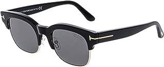 Tom Ford Men's Polarized Harry-02 FT0597-01D-51 Black Square Sunglasses