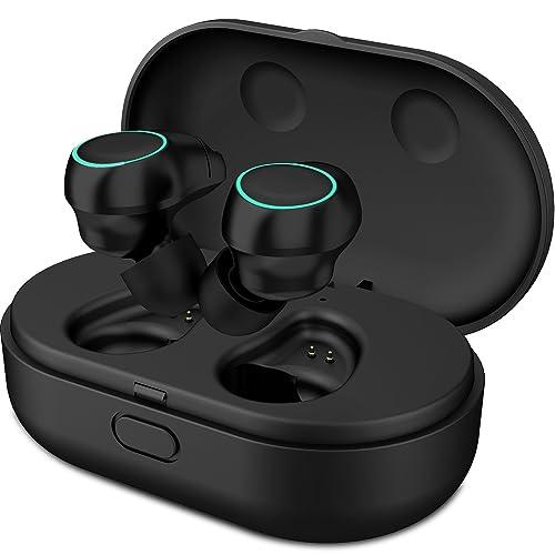 Holyhigh Auriculares Bluetooth Inalámbricos Mini Twins Stereo Auriculares Inalambricos con Caja de Carga y Micrófono Integrado
