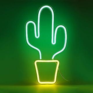Osaladi Lampe néon de poche à chargement USB Lumière fluo Décoration pour Noël, anniversaire, mariage, fête, chambre d'enf...