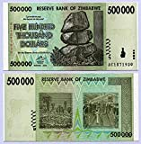 Zimbabue 500 Mil dólares 2008 UNC, inflación mundial, billetes de moneda