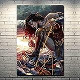 Ayjxtz Puzzle 1000 Piezas Wonder Woman VS Harley Quinn Hot Movie Art Gift Puzzle 1000 Piezas Adultos...