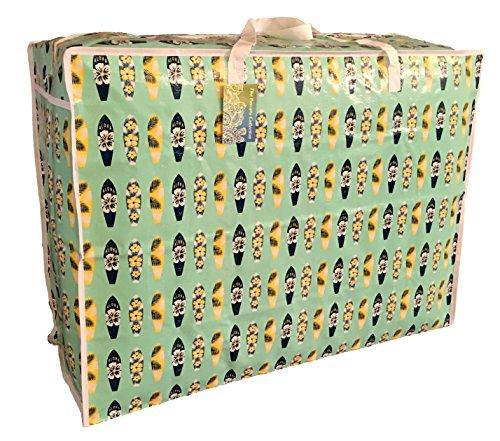 The Pescara Collection Extragrosse Aufbewahrungstasche 115 Liter. Grün Hawaii-Surfbrett Muster. Spielzeug, Waschen und Wäschesack