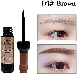 Aoile Red Wine Shape Peel Off Eye Brow Tattoo Shadow Eyebrow Gel Cosmetics Eyebrow Cream for Women 1# dark brown