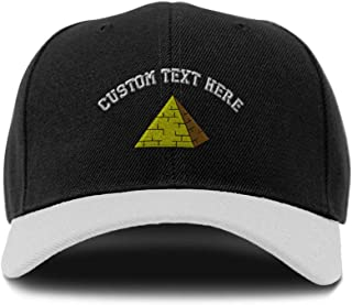Custom Bi Color Baseball Cap Pyramid Embroidery Acrylic Dad Hats for Men & Women