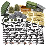 Feleph Military Army Toy Guns, Soldier Weapons Building Blocks Bricks, Gear Battle Accessories Pack, for WW2 SWAT Team Figures, Custom Modern Assault Rifles Toy, DIY Gift for Boys Kids