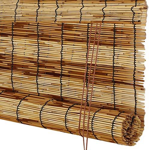 CAIJUN Reed Vorhang Bambusrollo Raffrollo Sonnencreme Lichtfilterung Belüftung Dekoration Ökologie, 2 Arten, Benutzerdefinierte Größe (Color : B, Size : 50x180cm)