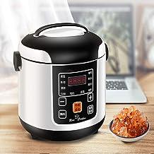 CHB Mini-rijstkoker voor 1-3 personen, thuis, 2 liter, 300 W, intelligente kleine, compacte en praktische multifunctionele...