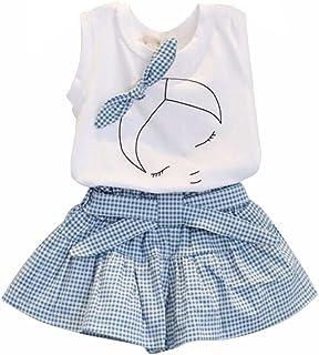 Ensembles de Bébé Filles - Mignon T-Shirt Bow Chemise de modèle de Fille Tops+ Shorts Ensemble Vêtements pour Enfant Fille...