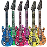Globo de guitarra Goods & Gadgets, 6 uds., guitarras hinchables, 100cm, multicolor