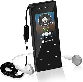 Reproductor de MP3 con Bluetooth 4.0, Slitinto 8G HiFi sinportátil pérdida Reproductores música MP3 con botón táctil / 1.8