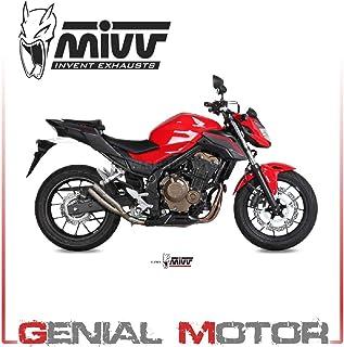 Echappement Mivv GP Kawasaki ZX-10R 04-05 Acier Inox Noir