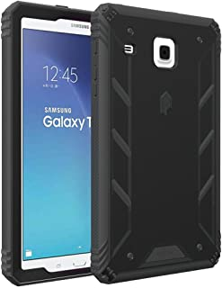 Poetic Revolution Heavy Duty Protection Hybrid Case with Screen Protector for Samsung Galaxy Tab E 8.0 (2016), Black