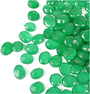 Brazilian Loose Green Emerald 100 Ct - 12 Pcs Oval Cut Green Emerald Gemstones Lot Festival Sale