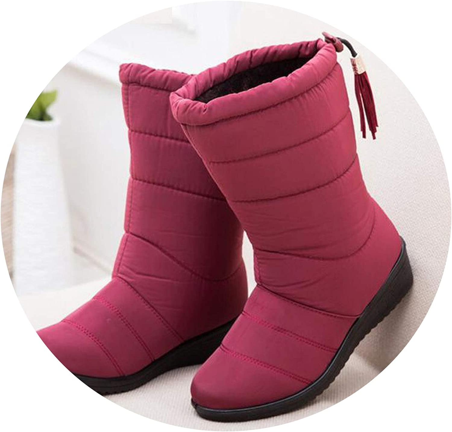 Female Down Winter Boots Waterproof Warm Ankle Snow Boots Ladies shoes Woman Warm Fur
