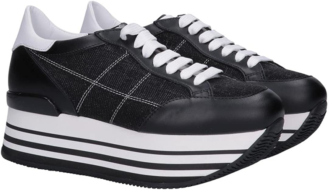 Hogan Sneakers Maxi H222 HXW2830K020IFJ0002 Pelle/Tela Nero Nero ...
