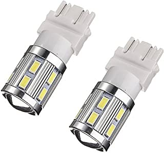 WerFamily 3157 3156 3057 3056 12-SMD 5730 Chipsets + 1-CREE 500 Lumens Super White LED Bulbs for Car Auto Brake Turn Signa...