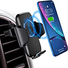 Wireless Car Charger Mount,DesertWest 10W Wireless Car Phone Holder Mount,Qi Car Charger Compatible for Samsung Galaxy S9/S8/S8+/S7/S7 Edge,iPhone 8/8Plus/X/XS/XR/Xs Max,Other Qi-Enabled Device