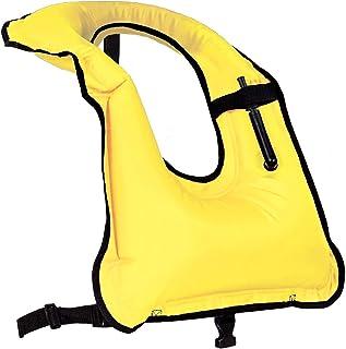 Faxpot Men/Women Snorkel Vest Adult Inflatable Snorkeling Jacket for Diving Swimming Safety