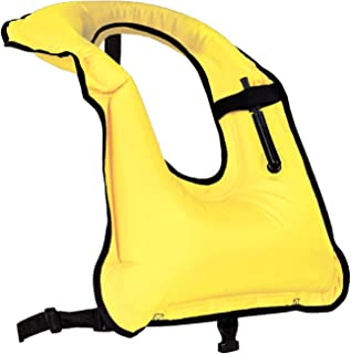 Faxpot Men/Women Snorkel Vest Adult Inflatable Snorkeling Jacket for Diving Swimming Safety