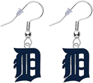 Baseball Logo Earrings Pierced