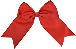 Red Jumbo Bow Clip with Tails